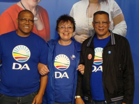 Elza Van Lingen with fellow Councillors Danny Benson and Fred Campher at the Provincial congress