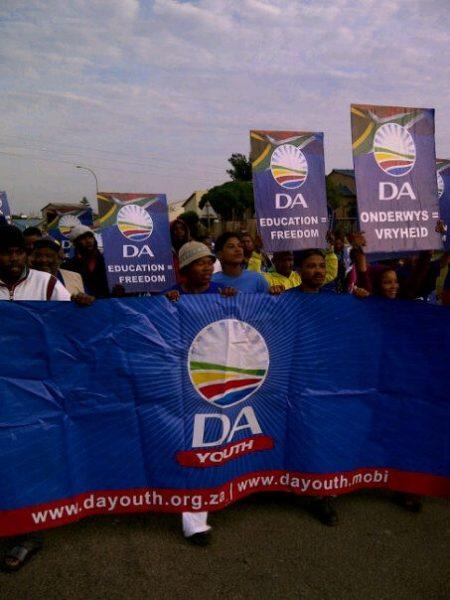 DA march Jeffreys Bay