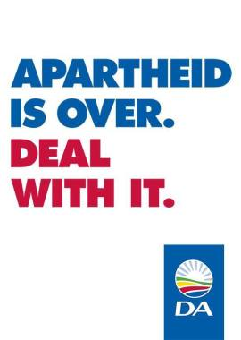 apartheid is dead