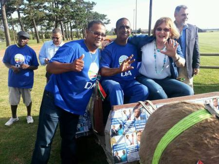 Desmond Petersen with Helen Zille