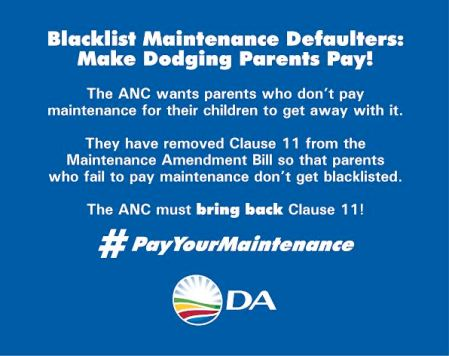 pay your maintenance