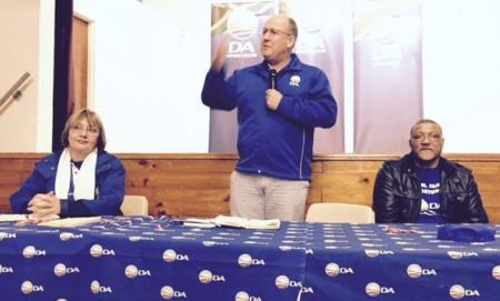 Athol Trollip at the Newton Hall last night.