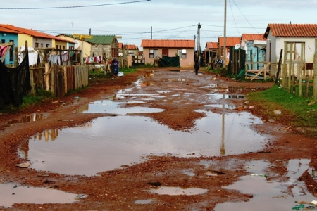 The towns in Kouga are also suffering. A road in ocean View.