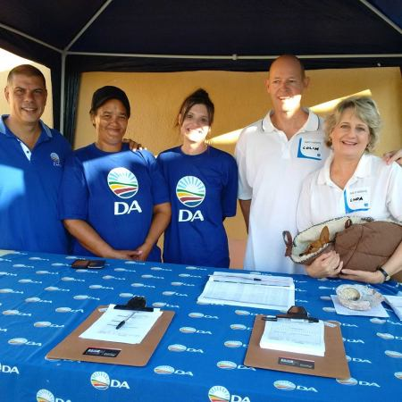 The DA team in Aston Bay