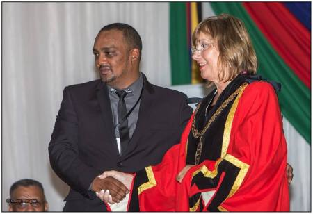 Horatio Hendricks and Elza Van Lingen are the new Speaker and Mayor of Kouga. Photo: Clive Wright
