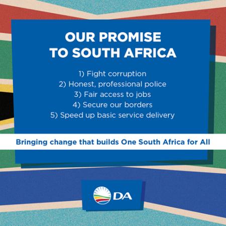 2019 DA election manifesto